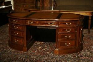 antique desk top leather